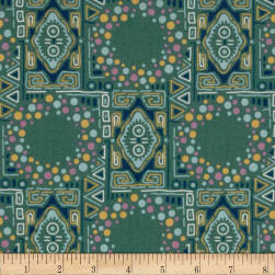 Downton Abbey Lady Sybil Mosiac Teal Fabric