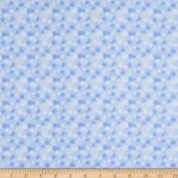 Flannel Tossed Bubbles Blue Fabric