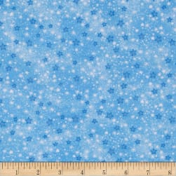 Flannel Stars Blue Fabric