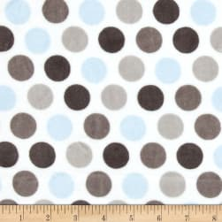 Shannon Minky Cuddle Mod Dot Baby Blue/Silver Fabric
