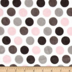 Shannon Minky Cuddle Mod Dot Blush/Silver Fabric