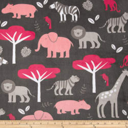 Shannon Minky Cuddle Jungle Tales Watermelon Fabric