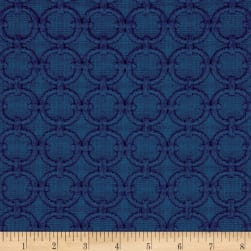 Waverly Full Circle Blue Marine Fabric