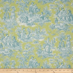 Waverly Rustic Life Toile Seaspray Fabric