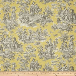 Waverly Rustic Life Toile Lemondrop Fabric