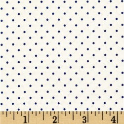 Riley Blake Swiss & Dots White/Navy Fabric