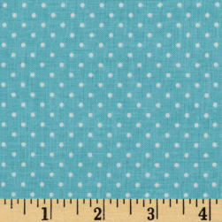 Riley Blake Swiss & Dots Aqua/White Fabric