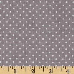 Riley Blake Swiss & Dots Gray/White Fabric