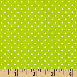 Riley Blake Swiss & Dots Lime/White Fabric