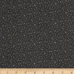 Essentials Flannel Petite Dots Black
