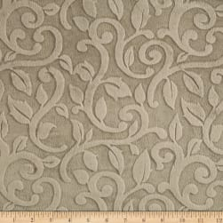 Shannon Minky Embossed Vine Cuddle Cafe Fabric