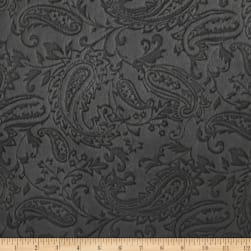Shannon Minky Cuddle Embossed Paisley Charcoal Fabric