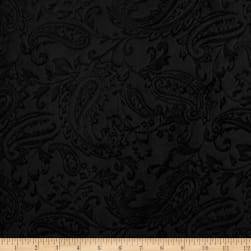 Shannon Minky Embossed Paisley Cuddle Black Fabric
