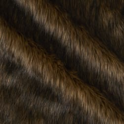 Shannon Faux Fur Wolf Brown/Black