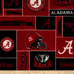 Collegiate Fleece University of Alabama Fabric