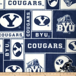 Collegiate Fleece Brigham Young Universirty Fabric
