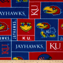 Collegiate Fleece University of Kansas Fabric