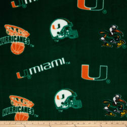 Collegiate Fleece University of Miami Orange Fabric