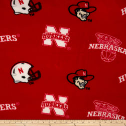 Collegiate Fleece University of Nebraska Red/White