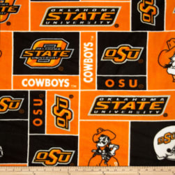 Collegiate Fleece Oklahoma State University Orange Fabric