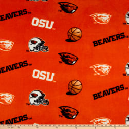 Collegiate Fleece Oregon State University Orange Fabric