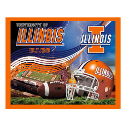 Collegiate Fleece Panel University of Illinois Blue Fabric