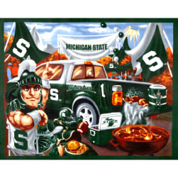NCAA Michigan State Spartans Fleece Panel Green