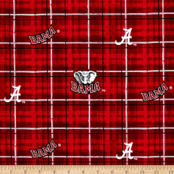 Collegiate Cotton Broadcloth University of Alabama Plaid Fabric