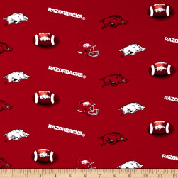 Collegiate Cotton Broadcloth University of Arkansas Razorbacks