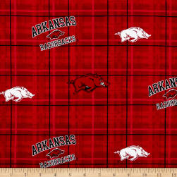Collegiate Cotton Broadcloth University of Arkansas Fabric