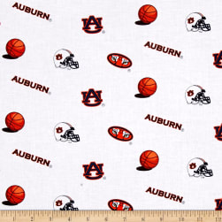Collegiate Cotton Broadcloth Auburn Tigers Fabric