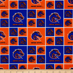 Collegiate Cotton Broadcloth Boise State Fabric