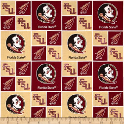 Collegiate Cotton Broadcloth Florida State Red
