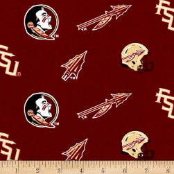 Collegiate Cotton Broadcloth Florida State Fabric