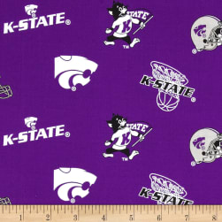 Collegiate Cotton Broadcloth Kansas State Fabric