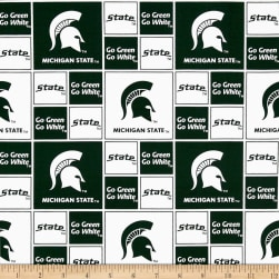 Collegiate Cotton Broadcloth Michigan State Fabric