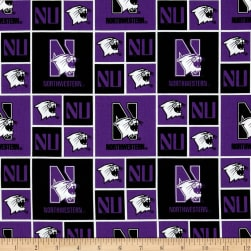 Collegiate Cotton Broadcloth Northwestern University Purple Fabric