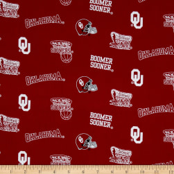 Collegiate Cotton Broadcloth University of Oklahoma