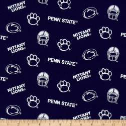 Collegiate Cotton Broadcloth Penn State Fabric