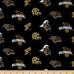 Collegiate Cotton Broadcloth Purdue