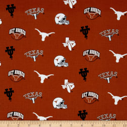 Collegiate Cotton Broadcloth University of Texas