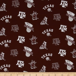 Collegiate Cotton Broadcloth Texas A&M Fabric