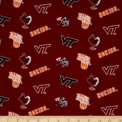 Collegiate Cotton Broadcloth Virginia Tech Fabric
