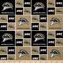 Collegiate Cotton Broadcloth Western Michigan Fabric