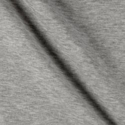 Sweatshirt Fleece Stretch Heather Grey Fabric
