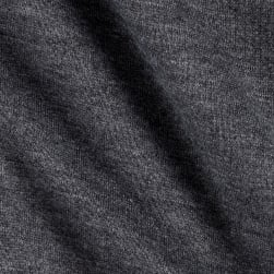 Sweatshirt Fleece Stretch Charcoal Fabric