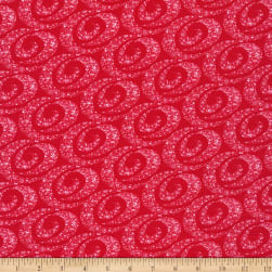 Henry Glass Holiday Lane Swirling Snow Red
