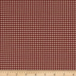 Magnolia Home Fashions Madrid Check Red Fabric