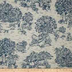 Magnolia Home Fashions Quaker Toile Ocean Fabric