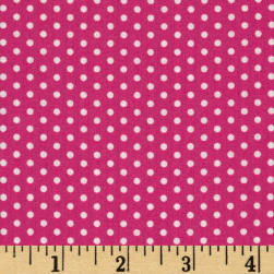 Spot On Pindot Hot Pink Fabric